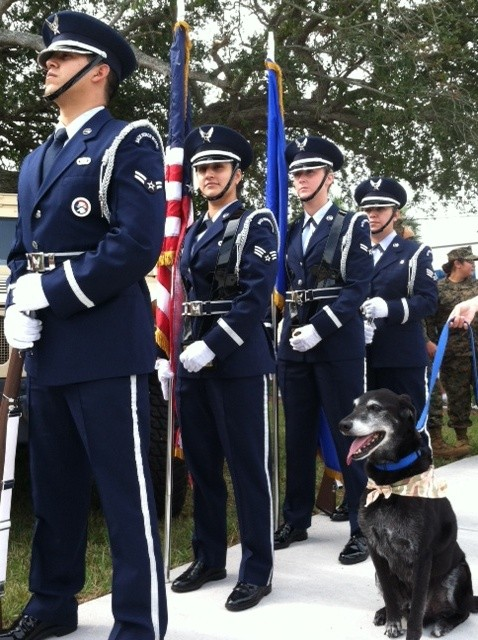 10-25-12 Duke with color guard