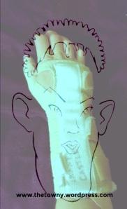 Wrist brace caricature