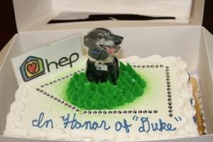 duke tribute cake